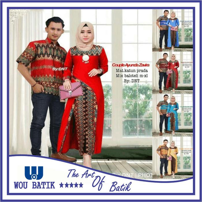 Kemeja Batik Songket Black Panjang kerja Kantor Slimfit Batik Cowok - Maroon