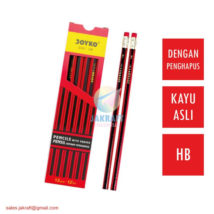 Pensil JOYKO 6151 HB Dengan Penghapus Kayu Asli Murah Berkualitas