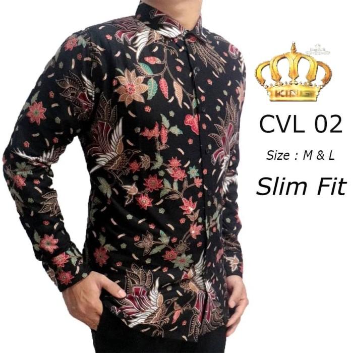 harga Baju kemeja batik pria slim fit lengan panjang d-282 Tokopedia.com