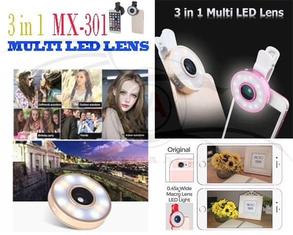 harga Lensa kamera mini led multi night selfie flash micro wide angle lens Tokopedia.com