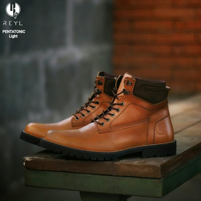 Jual Sepatu Boots Boot kulit asli safety formal gaya casual pria 1 ... 610e8b4908