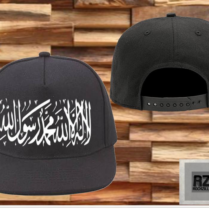 Jual Topi hitam snapback tauhid dakwah islam syahadat - KING ... 98490d76f9