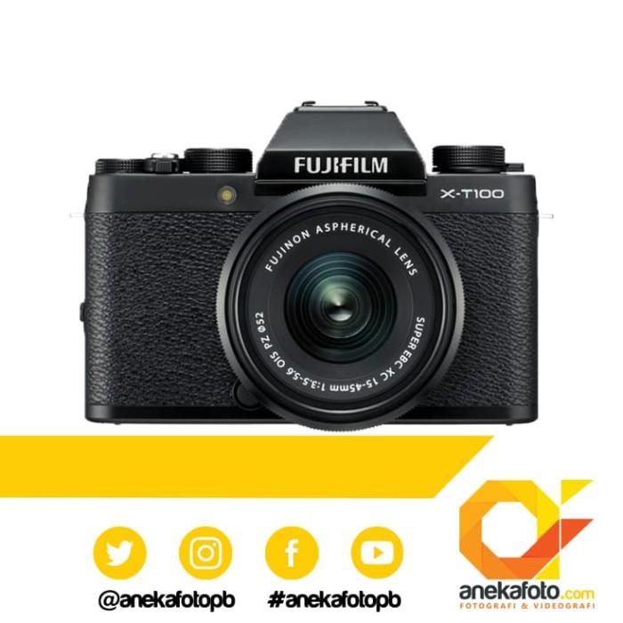 harga Fujifilm x-t100 / xt 100 / x t100 / xt-100 / xt100 kit 15-45mm - black Tokopedia.com