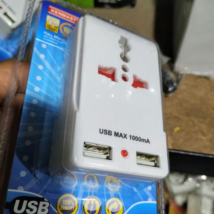 Foto Produk stopkontak steker t usb charger hp usb port kenmaster dari NurHouse wonosobo