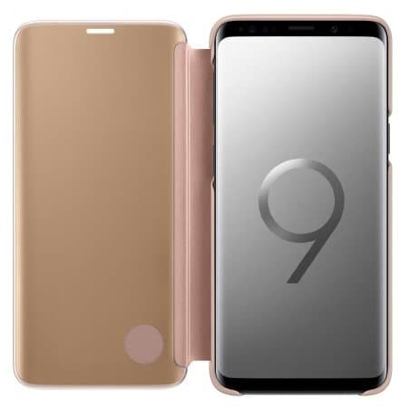 harga Samsung clear view standing cover galaxy s9 - gold Tokopedia.com