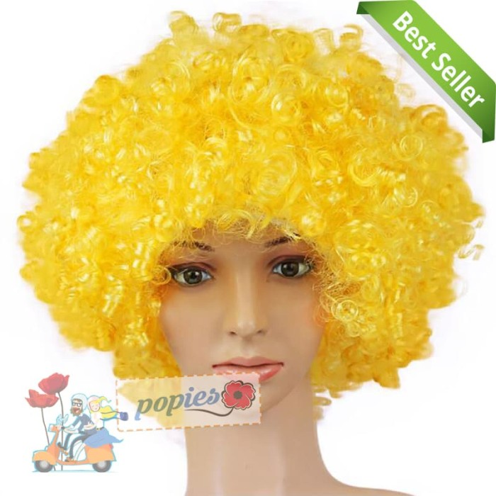 harga Wig   rambut palsu kribo allsize   rambut badut   rambut kribo kuning  Tokopedia. eb5e8b48e8