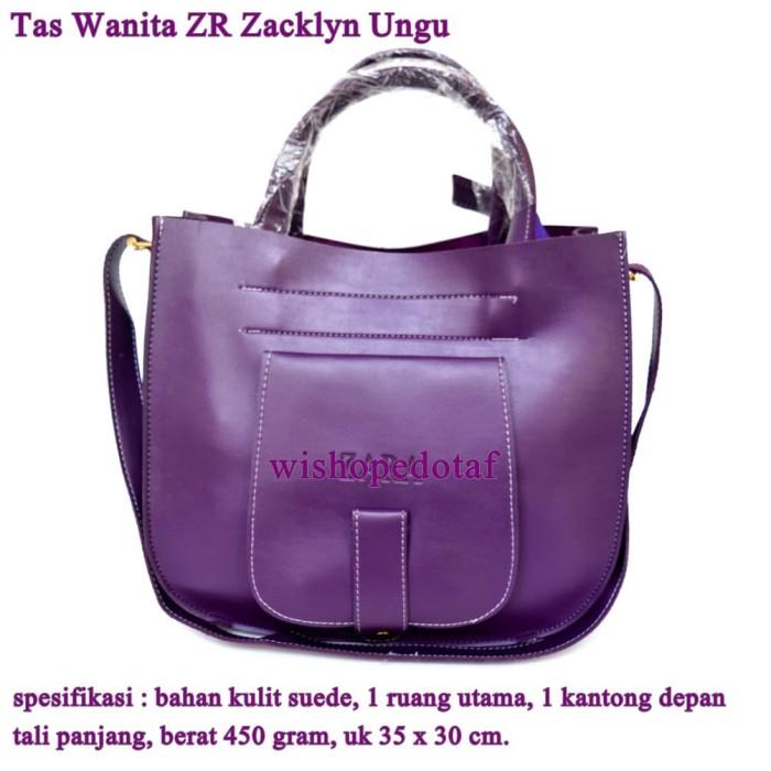Foto Produk Tas Wanita Kulit Selempang ZR Zacklyn ungu dari pusat grosir tas dompet