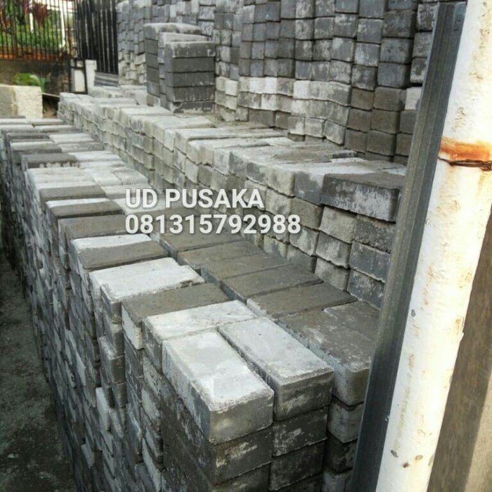 Jual PAVING BLOCK \/ CONBLOK TYPE BATA 6CM FREE ONGKIR - Kota Tangerang Selatan - UD PUSAKA