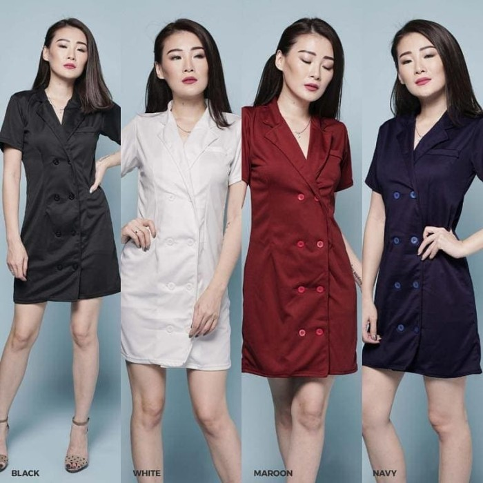 harga Joice button dress wedges big size jumbo casual midi wanita murah Tokopedia.com