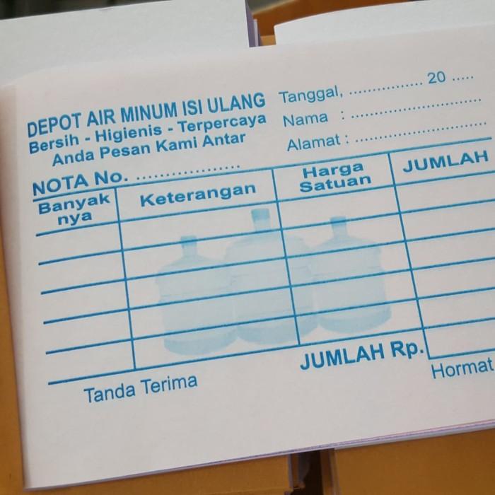 Jual Buku Nota Bon Depo Air Minum Isi Ulang Kab Tangerang Furie Blessqua Tokopedia