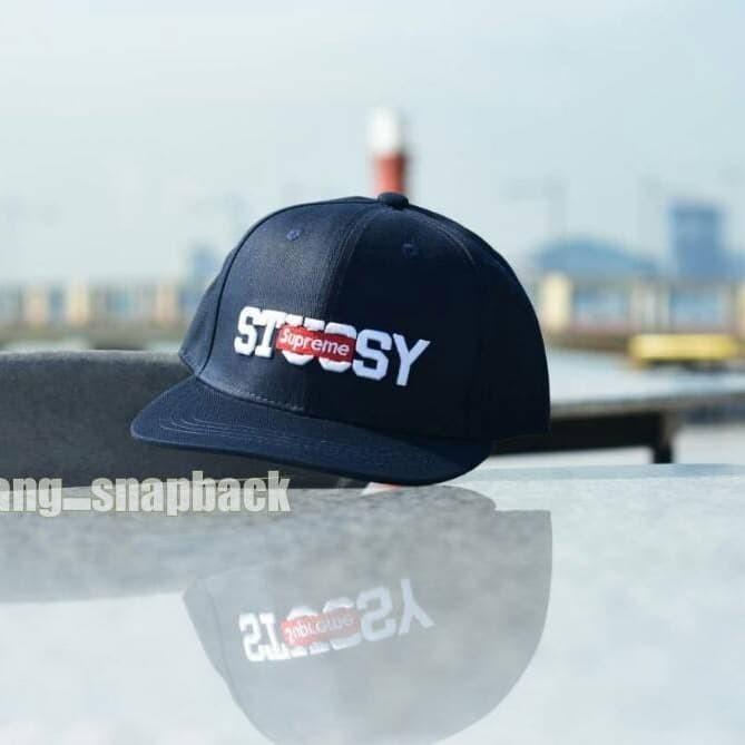 a7694be0 Jual topi snapback stussy x supreme/ supreme cap original import ...