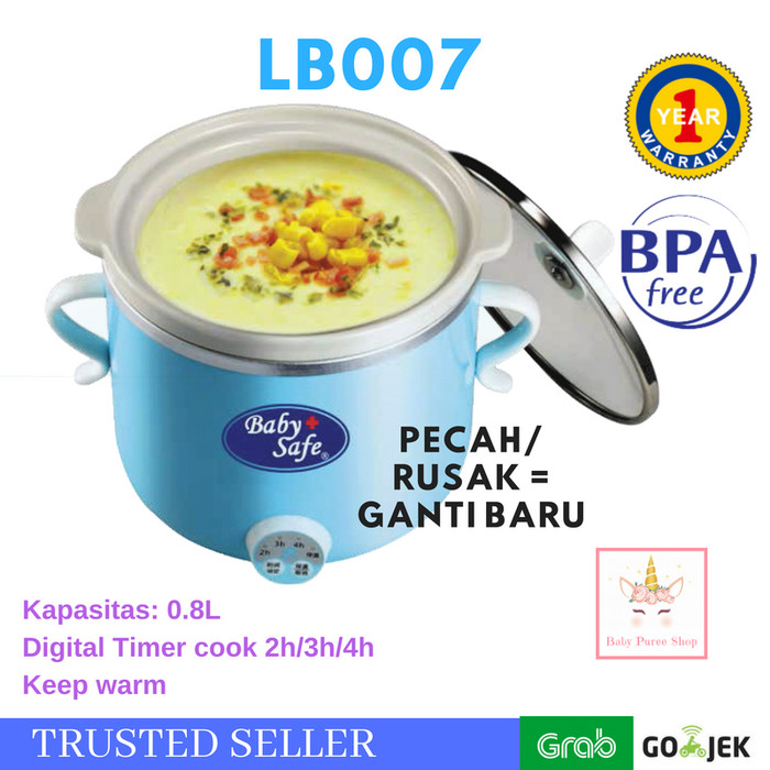 Baby Safe Slow Cooker LB007 Food Processor Bayi - Biru Muda