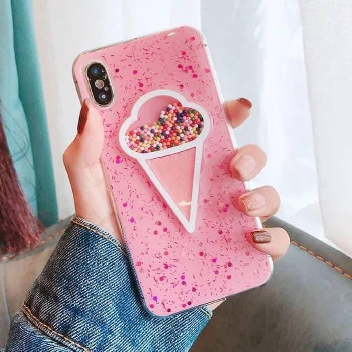 ... Pasir Hisap Berlian Berkilau TPU Lembut Case-. Source · Softcase 3D Ice Cream Case Glitter Bling Casing HP Xiaomi MI5X MiA1