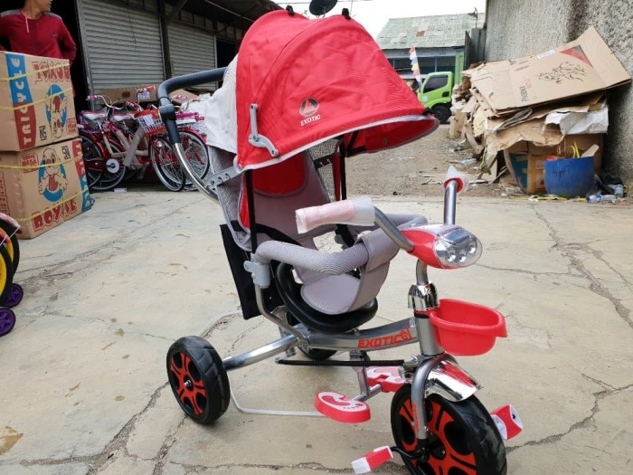 harga Sepeda anak roda 3 tricycle kanopi shincan baby stroller merk exotic Tokopedia.com
