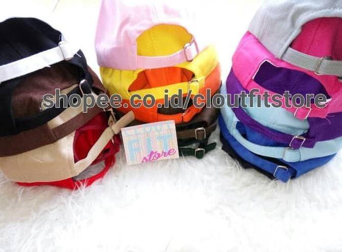 Hot Produk Topi Baseball Polos / Tumblr Cap Pengait Besi