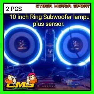 Lampu musik Ring Subwoofer 10 inch dengan sensor suara. Ring s