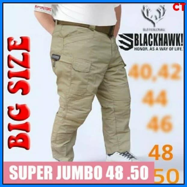 Celana Tactical Black hawk Ukuran Super Jumbo Big Size Celana Panjang