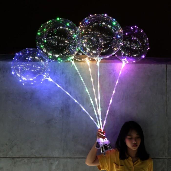 TIDAK PERLU HELIUM -Balon LED/ BOBO Balon/ Balon Lampu Tumblr