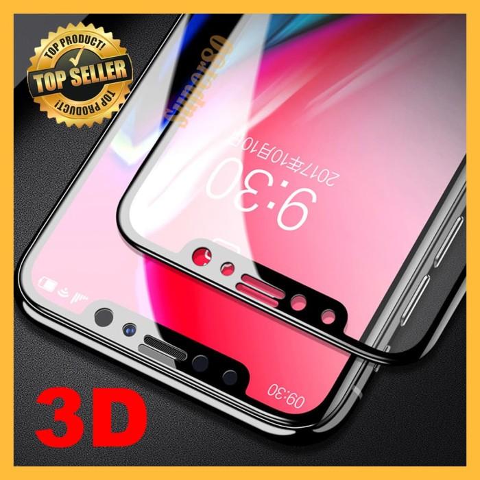 Foto Produk Tempered 3D iPhone 7 8 Plus X XS XR Max Full Cover Screen Guard Glass - Hitam, XS Max dari Super80