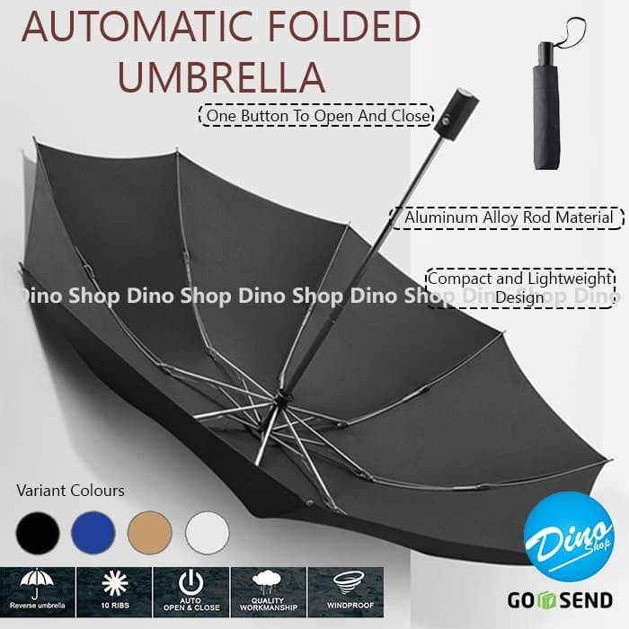 Payung lipat golf otomatis buka tutup automatic umbrella fold anti uv
