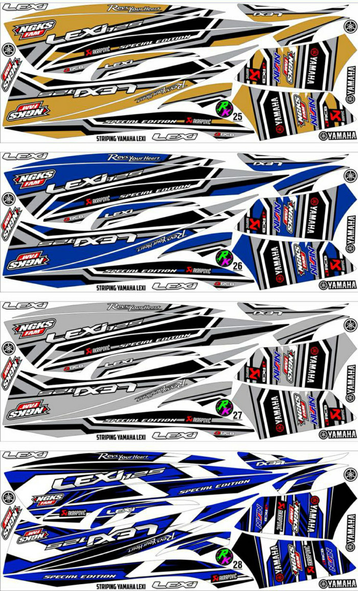 Foto Produk Sticker / Striping Variasi Yamaha LEXI    -2 dari MOLAN Stiker