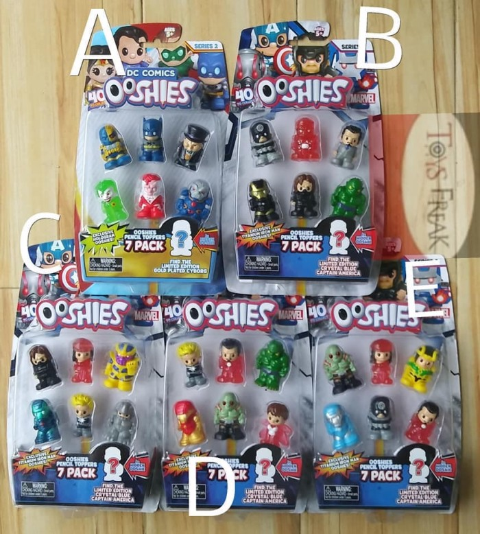 harga Ooshies pencil toppers series 2 dc comics isi 6 Tokopedia.com