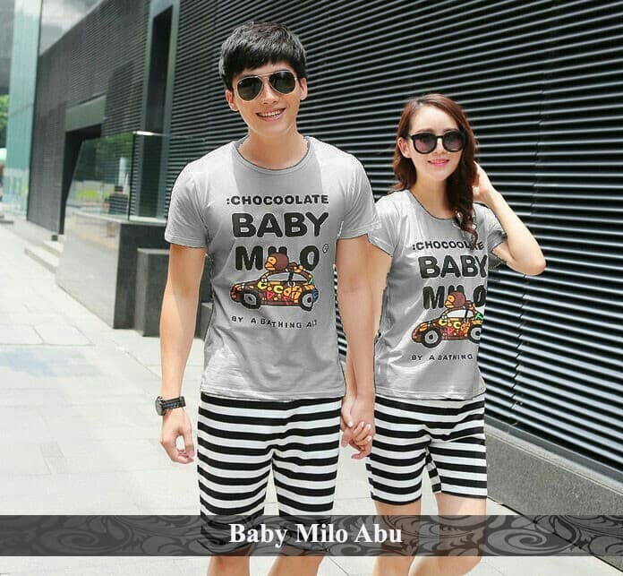 Foto Produk baju couple | baju pasangan | kaos lucu | baby milo couple dari koleksi baju couple