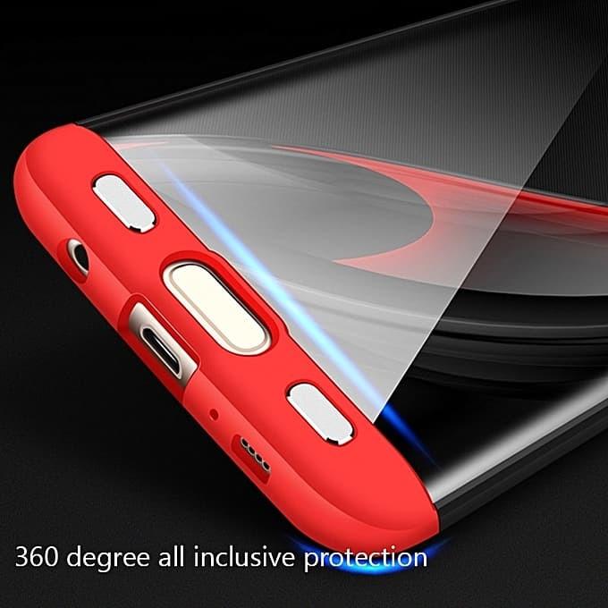 Case 360 GKK Original Samsung Galaxy S7 Edge G935F Hardcase Back Matte - Hitam L Merah
