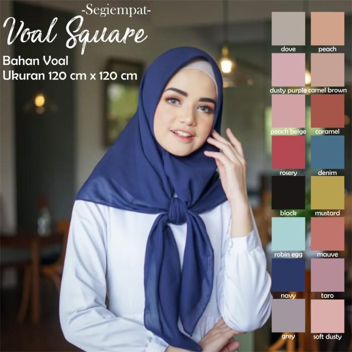 Hijab Bahan Voal Polos 37