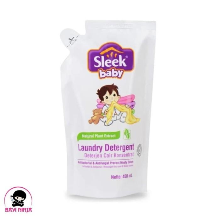 Foto Produk SLEEK Baby Laundry Detergent Deterjen Cair Refill 450ml / 450 ml dari BAYININJA