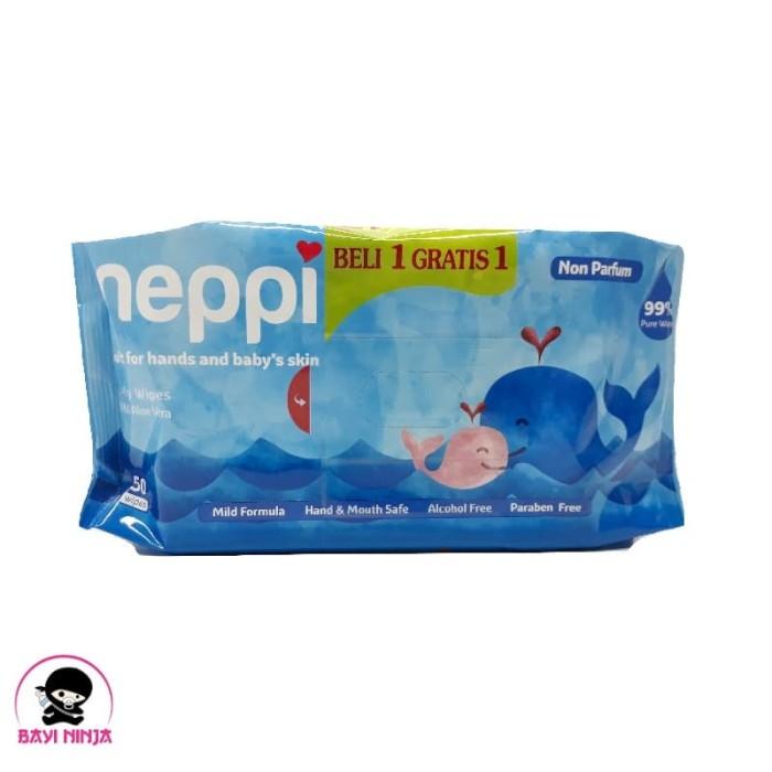 Foto Produk NEPPI Baby Wipes with Aloe Vera Non Perfume 50 s (B1G1 Free) dari BAYININJA