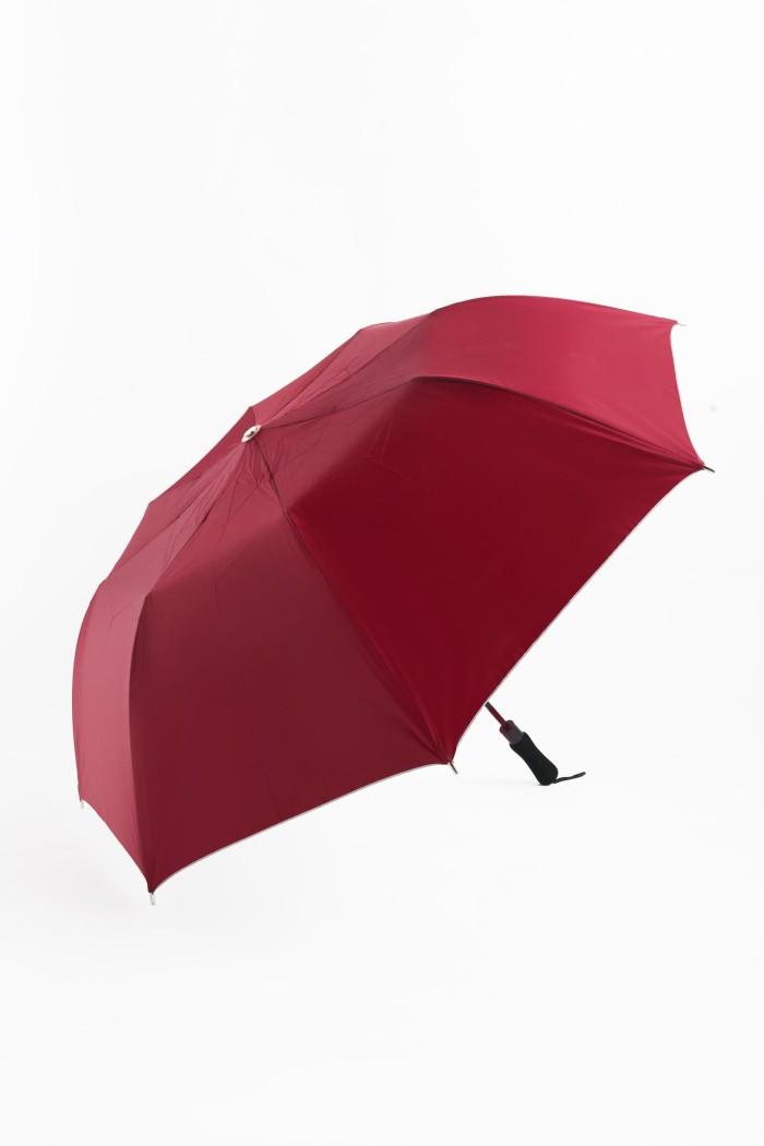 Payung golf lipat dua polos maroon merah marun besar 2 sablon promosi