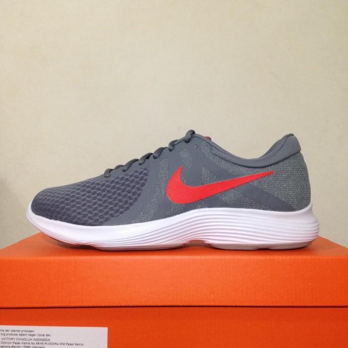 996edac923506 Jual Sepatu Running Lari Nike Revolution 4 Cool Grey Red 908988-013 ...