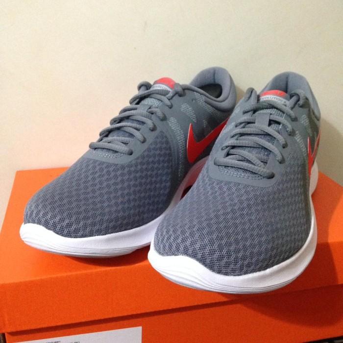 9adbf78abd06 Jual Sepatu Running Lari Nike Revolution 4 Cool Grey Red 908988-013 ...