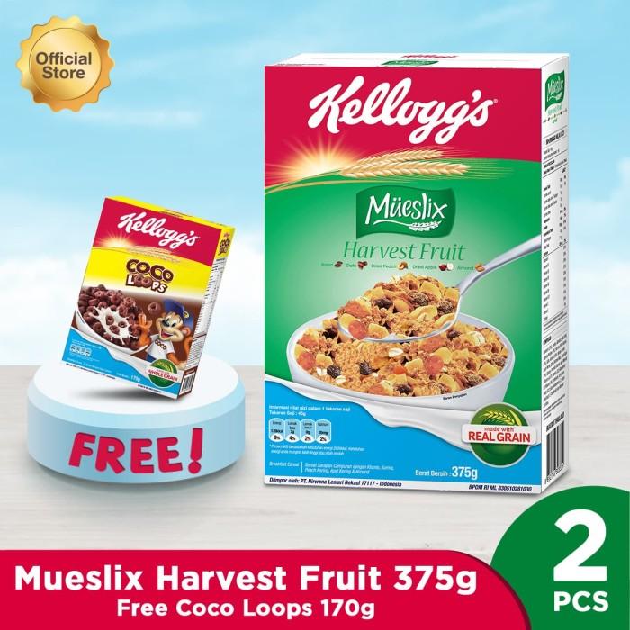 Mueslix Harvest Fruit 375g Free Coco Loops 170g [Flash Sale]