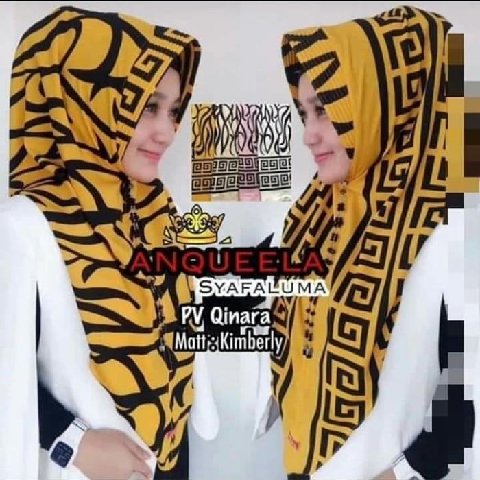 harga Jilbab hijab kerudung hoodie instan motif kotak macan syafaluma Tokopedia.com