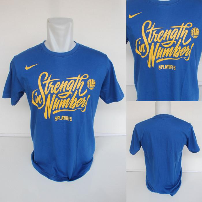 hot sale online 4824b fbc13 Jual T-shirt Kaos Baju Basket Golden State Warriors Strange In Numbers -  Biru, M - Kota Semarang - Kedai Basket | Tokopedia