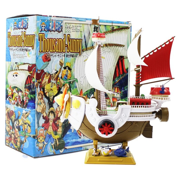 Bandai One Piece Thousand Meryl Boat Pirate Ship Figure PVC Action Figure Toys