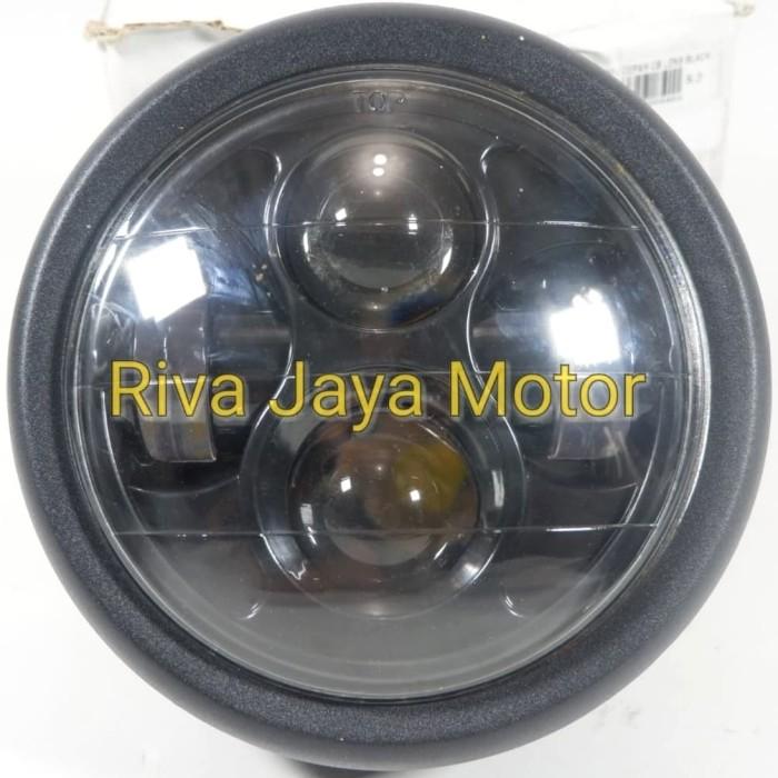harga Lampu reflektor depan cb lens led daymaker japstyle hitam universal Tokopedia.com