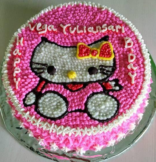 Jual Cake Karakter Hello Kitty Coklat Kab Manokwari Rumah Kue Asha Tokopedia