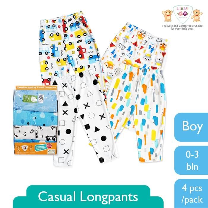 Libby sale casual longpants 0-3 bln - boy (4pcs/pack)