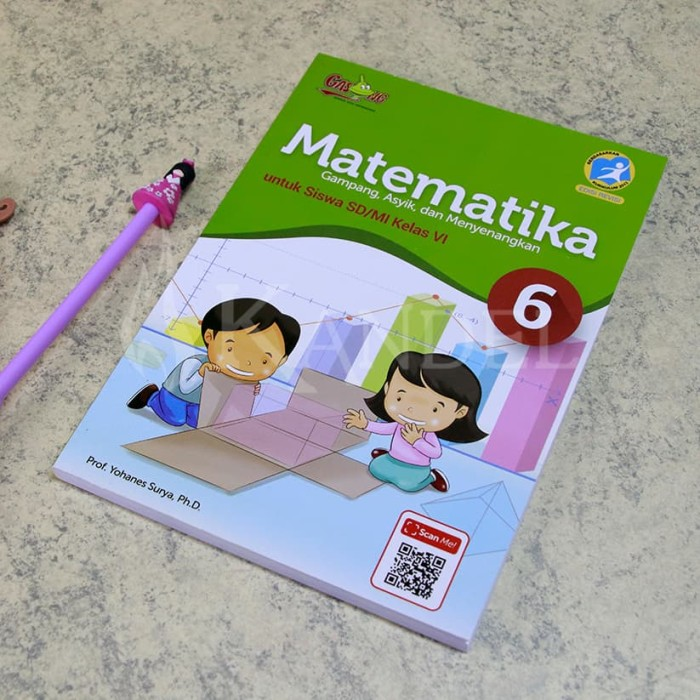 Foto Produk Matematika GASING Kelas 6 Kurikulum 2013 by Prof. Yohanes Surya dari Toko Pendidikan Gasing