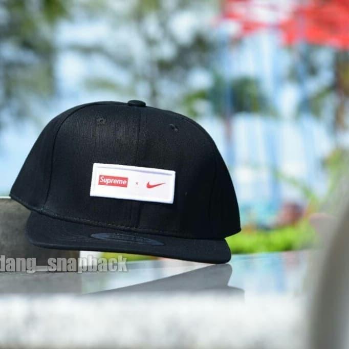 5290b57d23951 ... harga Topi original import   snapback suprem x nike original import    hat Tokopedia.com