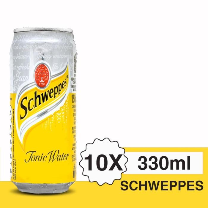 harga Schweppes tonic water sleek can 330 ml ( 10 kaleng) Tokopedia.com