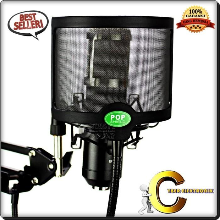 harga Flexible pop filter windshield microphone cover - black berkualitas Tokopedia.com