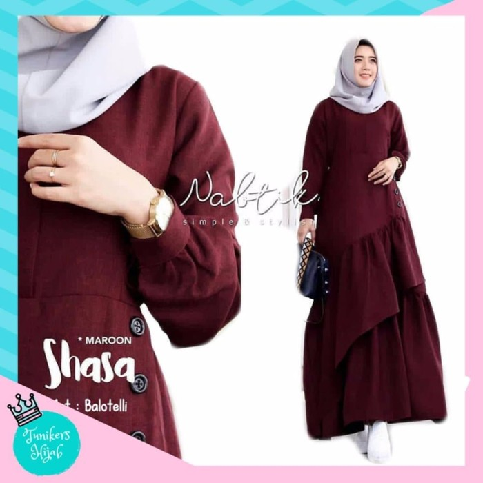 Jual Syari Hafizah Dress Gamis Hijabers Busana Muslim Harga Rp 143 000