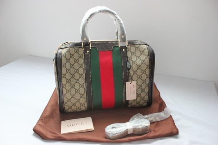 89c1b28eb52 Jual Tas Boston Wanita Gucci Super Premium Waterproof 28247205 - Sky ...