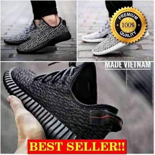 Jual Sepatu Adidas Yeezy Boost 350 Yezzy Black Import Casual Pria ... 7cf0c8a162