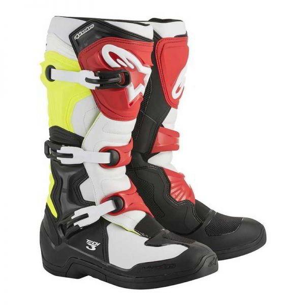 harga Sepatu cross alpinestars tech 3 black white yellow flo red 2018 Tokopedia.com