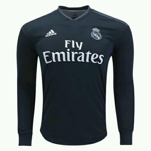 4ee1e077241 Jual jersey bola real madrid away lengan panjang 2018 2019 - Hitam ...